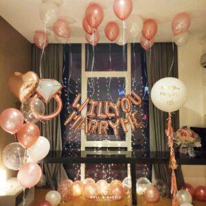 求婚氣球佈置7