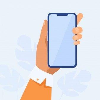 human hand holding mobile phone 74855 6532