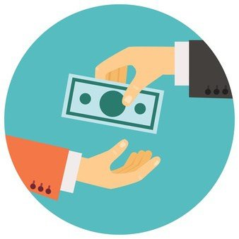 vector illustration retro style hand giving money other hand 1284 42589